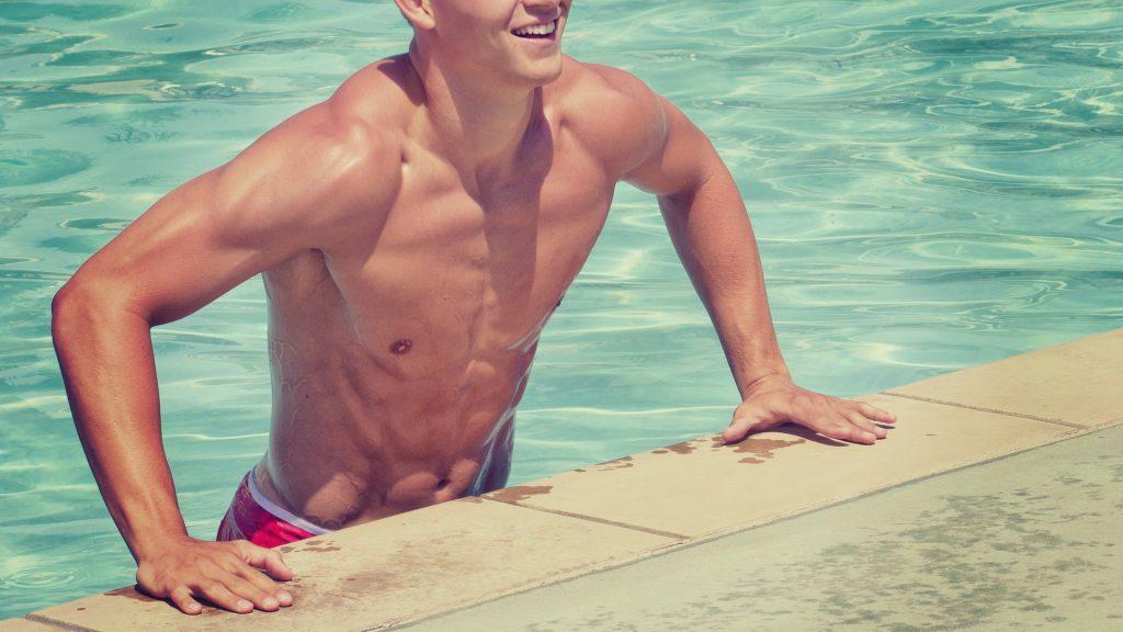プール筋肉