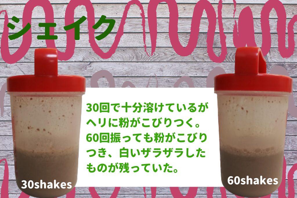 コンバット チョコレートミルク シェイク 溶け具合 溶けやすさ プロテイン